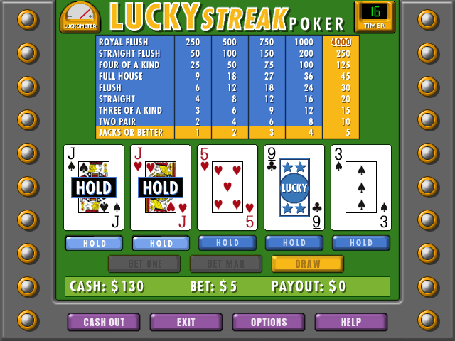 Lucky Streak Poker Screenshot