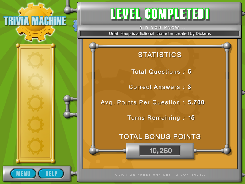Trivia Machine Screenshot